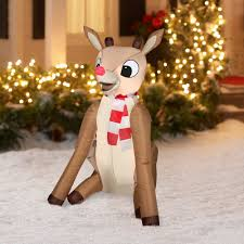 Outdoor Reindeer Christmas Decorations by Gemmy Airblown Christmas Inflatables 4 U0027 Rudolph Prop Decoration