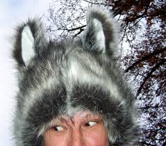 Coyote Halloween Costume Husky Ear Hat Malamute Sled Dog Furry Hat Halloween Costume