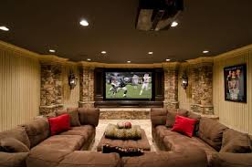Media Room Decor Now That U0027s What I U0027m Talking About Basement Media Room Family Room