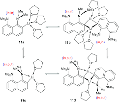ring lithiation of 1 8 bis dimethylamino naphthalene another side