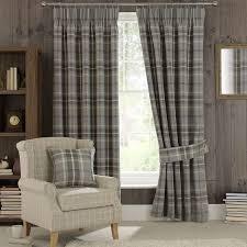 Curtain Pole Dunelm Dove Grey Highland Check Pencil Pleat Curtains Dunelm Living