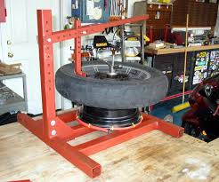 Motorcycle Tire Changer And Balancer Low Budget Homemade Tools For Your Garage