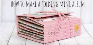 make a photo album how to create a folding mini album prika medium