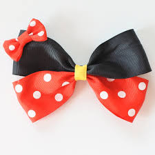 bow for hair two layer polka dots hair bows for minnie hair