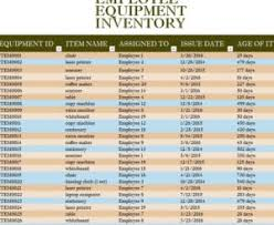 Inventory Spreadsheet Excel Template Employee Equipment Inventory Sheet My Excel Templates