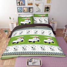Snoopy Bed Set Snoopy Golf Bedding Set Gearpassio