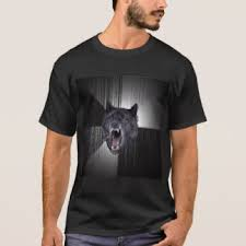 Wolf T Shirt Meme - courage wolf t shirts shirt designs zazzle