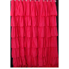Ruffled Pink Curtains Pink Shower Curtains Waterfall Ruffle Shower Curtain Pink Ruffle