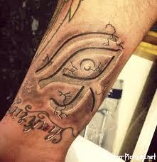 grey ink 3d eye on forearm eye