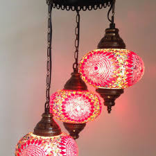 Pink Gypsy Chandelier Pink Turkish Stylish Boho Mosaic Lamp From Thelampcorner On Etsy