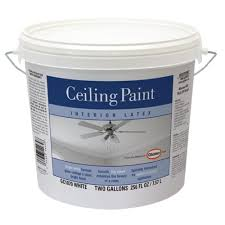 glidden 2 gal bright white interior flat ceiling paint gc1070 02