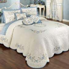 Cotton Quilted Bedspread Vintage Charm Grande Bedspread Dusty Blue Decorating Pinterest