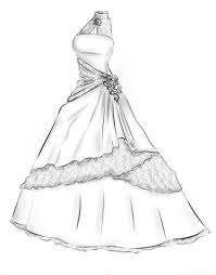 drawing wedding dresses gown drawing wedding dress search for