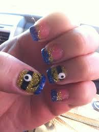 despicable me nails minion nails acrylic nails 2014 nail