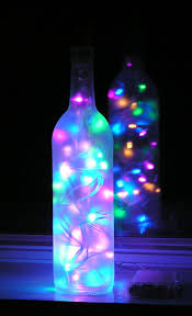 christmas crafts with wine bottles frosted wine bottle light