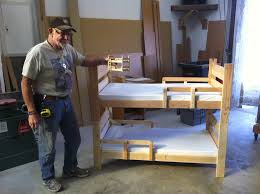 custom bunk bed design for toddler with side rails boys room