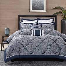 Madison Park Bedding Barrett 8 Piece Jacquard Comforter Set By Madison Park Hayneedle