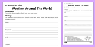 around the world activity sheet worksheet