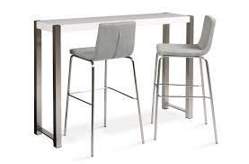 Breakfast Bar Table Breakfast Bar And Stools With White Gloss Finish Thomas Brown