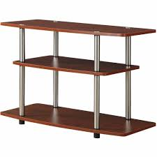 Tv Furniture Convenience Concepts Designs2go No Tools 3 Tier Tv Stand Multiple