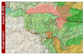 Sequoia National Park Map Rough Fire Update Raining Ash In Fresno The California Report