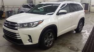 toyota highlander 2017 interior 2017 toyota highlander limited awd in blizzard pearl with the