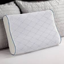 gel bed pillows sealy cooling gel and memory foam standard size contour pillow f01