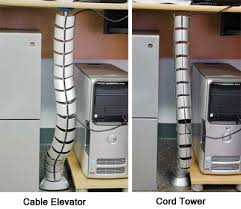 cable elevator flexible cord tower cable manager desk organizer