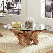 Tree Stump Side Table Tree Stump Coffee Table Wayfair