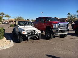jeep wrangler truck jeep next to my dad u0027s truck