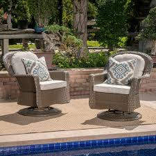 Swivel Outdoor Patio Chairs Darby Home Co Middletown Modern Outdoor Wicker Swivel Club Patio