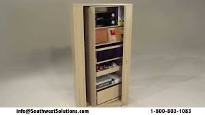 Office Storage Cabinets With Sliding Doors Rotating Dual Sided Office Storage Cabinets Spinning Shelving Rack