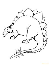 stegosaurus jurassic dinosaur coloring free coloring pages