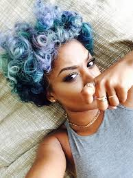 how to color natural afro textured hair feeling blue 30 shades of blue on 30 women you just have to see