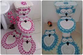 owl bathroom set with free pattern