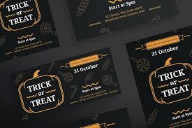flyers trick or treat flyer templates creative market