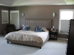 Gray And Brown Paint Scheme Bedroom Simple Soft Material Mattress And Charming Cushions