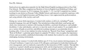 example cover letter for teaching position cover letter job