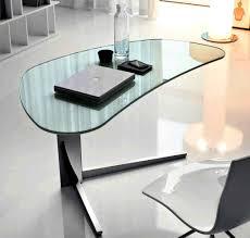 Modern Computer Desks by Glass Desks Glass Desks Innovex Clear Tempered Glass Modern In