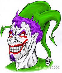 evil joker tattoo design by sabretooth on deviantart