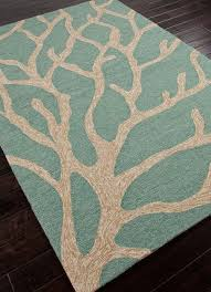 Coastal Indoor Outdoor Rugs Seabreeze Teal Coral Area Rug Living Spaces Indoor Outdoor And