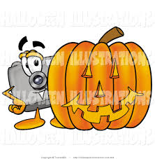 halloween clip art of a camera mascot cartoon character with an