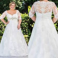wedding dresses for plus size discount plus size lace wedding dresses a line 1 2
