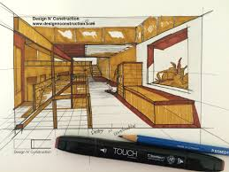 how to draw a complex room using one point perspective youtube