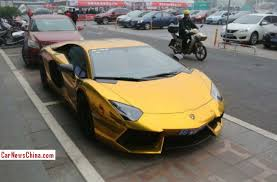 gold lamborghini aventador bling lamborghini aventador is shiny gold in china carnewschina