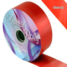 poly ribbon 50mm poly ribbon roll choose a colour wedding and party store