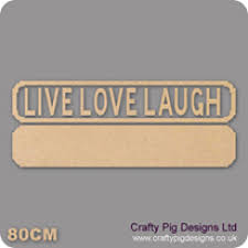 18mm live love laugh street sign