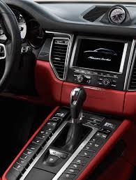 Porsche Panamera Red Interior - macan interior console