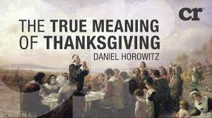 true meaning of thanksgiving