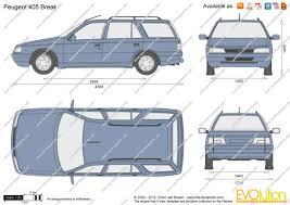peugeot 405 wagon the blueprints com vector drawing peugeot 405 break